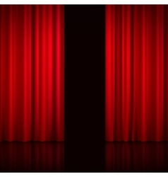 Open Red Curtains vector image vector image