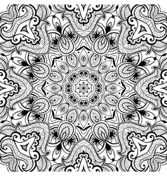 Ornamental round lace background vector image vector image