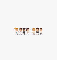pixel people vector image vector image