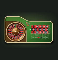 roulette table and wheel vector image