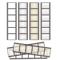 set of film strips vector image vector image