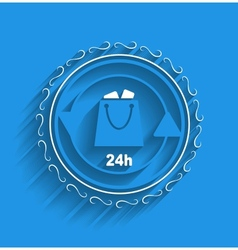 shopping bag icon modern flat design vector image