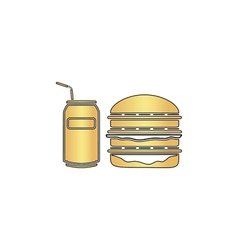 fast food computer symbol vector image vector image