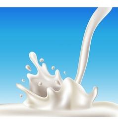 Milk splash vector image vector image