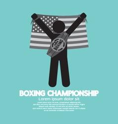 Black Symbol Boxing Championship vector image vector image