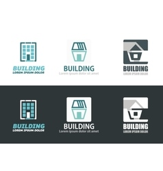 Building elements vector image vector image