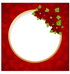 christmas label ring 01 vector image