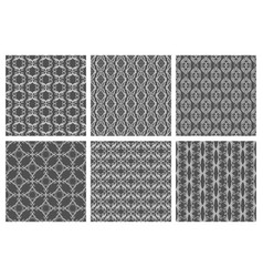 flourish damask seamless patterns floral vector image