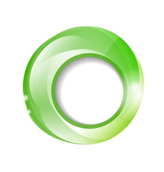 glowing green frame vector image