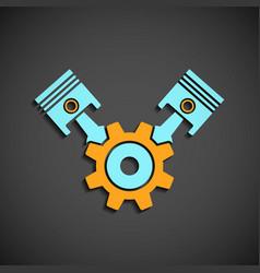 icon engine vector image