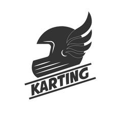 karting club or kart races sport helmet vector image