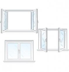 plastic windows vector image