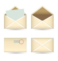 vintage mails set vector image vector image