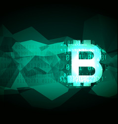 abstract cryptocurrency bitcoin symbol design vector image
