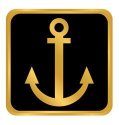 anchor button on white vector image