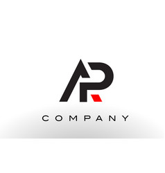 ap logo letter design vector image
