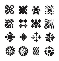 arabic ornament icon set vector image vector image