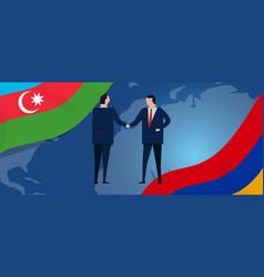 Armenia and azerbaijan cease fire agreement making vector