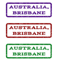 Australia brisbane watermark stamp vector