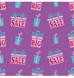 Big sale pattern vector image