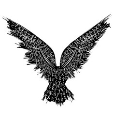 black and red raven vector image