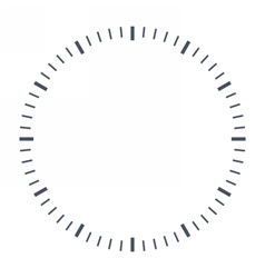 Blank clock face vector
