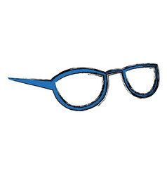 blue glasses accessory female style vector image