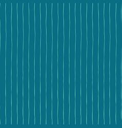 Blue vertical hand drawn stripes seamless vector