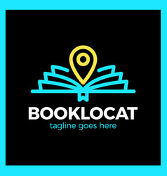 book location logo vector image