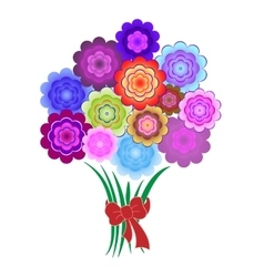 Bouquet of bright colorful flowers vector image