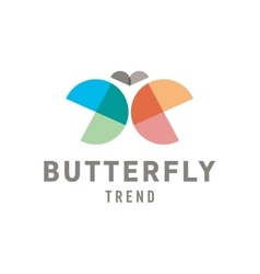 Butterfly wings are half circles Abstract vector