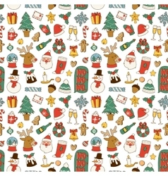 Christmas symbols pattern vector