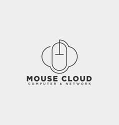 Cloud mouse logo template icon element vector