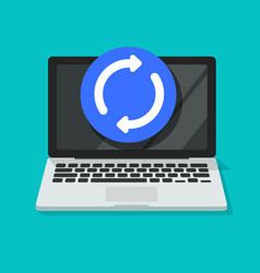 computer updating or upgrading process icon vector image