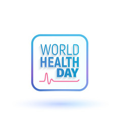 Concept sign of world health day vector