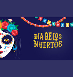 dia de los muertos day of the dead mexican vector image
