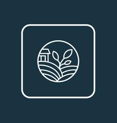 Eco farming icon line symbol premium quality vector