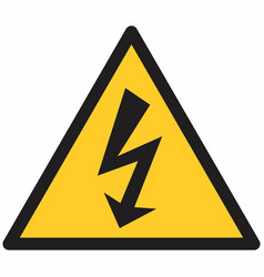 electrical hazard symbol vector image