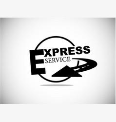express delivery service symbols vector image