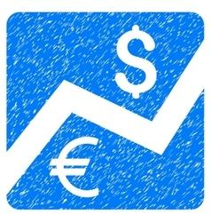 Financial Diagram Grainy Texture Icon vector