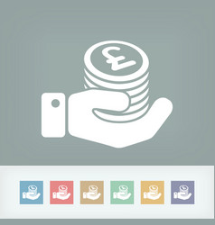 financial icon - sterling vector image