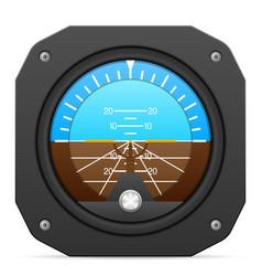Flight instrument attitude indicator vector