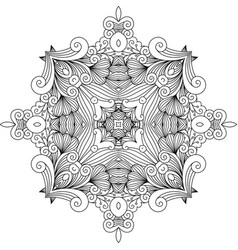 Floral zentangle decorative element vector