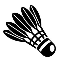 game shuttlecock icon simple style vector image