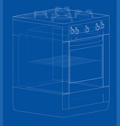 Gas stove concept vector