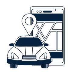 gps car tracking vector image