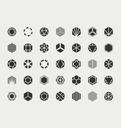 graphic design element set logo template vector image