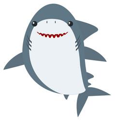 Great white shark on white background vector