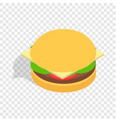 hamburger isometric icon vector image