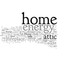 Home energy audit vector